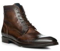 Schuhe Schnürstiefeletten Leder testa di moro