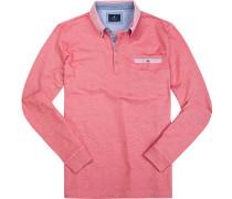 Polo-Shirt Polo Baumwoll-Pique fuchsia meliert