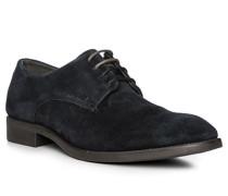 Schuhe Derby, Veloursleder, dunkelblau