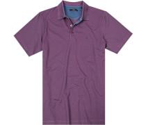 Polo-Shirt, Baumwolle, pink gemustert