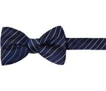 Krawatte Schleife, Seide, marine gestreift