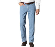 Herren Jeans Baumwoll-Stretch denimblau