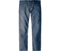 Herren Blue-Jeans Regular/Slim Fit Baumwolle tintenblau