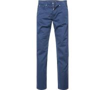 Jeans Regular Fit Baumwoll-Stretch navy