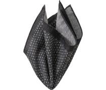 Accessoires Einstecktuch Wolle anthrazit-hellgrau gemustert