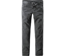 Blue-Jeans Slim Fit Baumwoll-Stretch dunkelgrau
