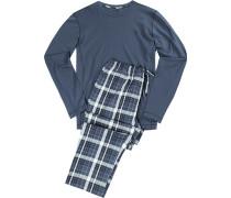 Schlafanzug Pyjama, Baumwolle-Modal,