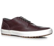 Schuhe Sneaker Leder bordeaux