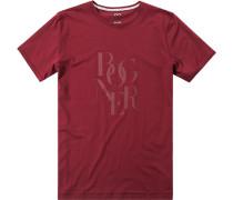 T-Shirt Baumwolle weinrot