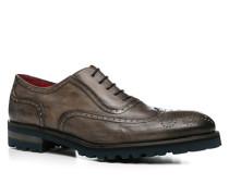 Herren Schuhe Brogue Leder grigio braun,rot