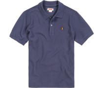 Polo-Shirt Polo Baumwoll-Piqué dunkelblau