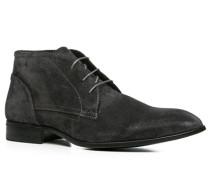 Herren Schuhe Stiefeletten Veloursleder anthrazit grau,schwarz