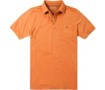 Herren Polo-Shirt Polo Baumwoll-Piqué orange