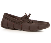 Schuhe Loafer Kautschuk dunkelbraun