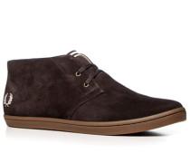 Herren Schuhe Desert Boots Veloursleder kaffebraun braun,beige