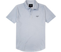 Polo-Shirt Polo Baumwoll-Pique hellblau