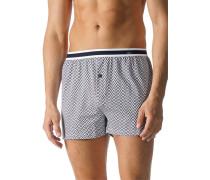 Herren Unterwäsche Boxer-Shorts Baumwoll-Stretch weiß gemustert