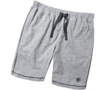 Schlafanzug Pyjama-Bermudas Baumwolle anthrazit meliert
