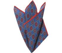 Herren Accessoires  Einstecktuch Wolle royal-rot gemustert blau