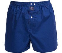 Unterwäsche Boxer-Shorts Baumwolle königsblau
