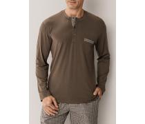 Schlafanzug Longsleeve Baumwolle