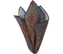 Accessoires Einstecktuch Wolle -hellblau paisley