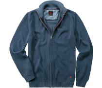Herren strellson Sportswear Cardigan Robin-J Baumwolle blau