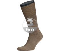 Herren Socken Socken Woll-Mix hellbraun meliert