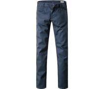 Blue-Jeans Slim Fit Baumwoll-Stretch dunkelblau