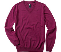 Herren Pullover Regular Fit Schurwolle fuchsia rosa