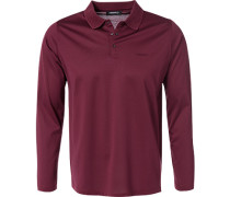 Polo-Shirt Polo Baumwolle bordeaux
