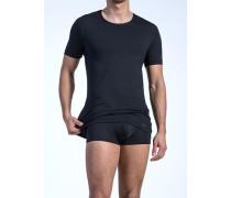 Herren T-Shirt Microfaser schwarz