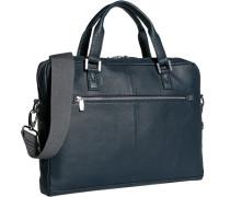 Herren Tasche  Aktentasche Leder blau