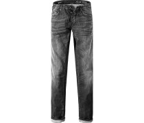Jeans Straight Fit Baumwoll-Stretch 9 oz anthrazit