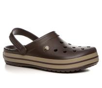 Schuhe Pantoletten Gummi espresso-khaki