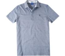 Herren Polo-Shirt Polo Modern Fit Baumwoll-Jersey blau-weiß gestreift