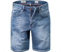 Herren Bermudas Baumwoll-Denim jeansblau