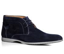 Herren Schuhe Desert Boots Veloursleder nachtblau blau,beige