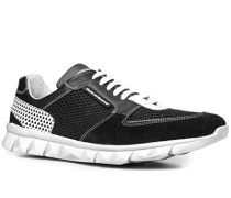 Schuhe Sneaker Kalbleder-Textil -weiß