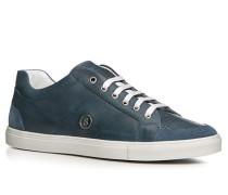 Herren Sneaker Glattleder jeansblau blau,weiß