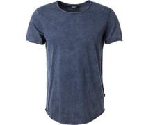 T-Shirt, Baumwolle, dunkelblau