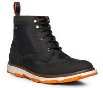 Schuhe Stiefeletten Synthetik wasserabweisend navy-