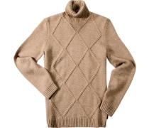 Herren Pullover Regular Fit Woll-Mix camel beige