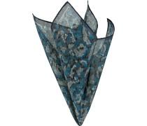 Accessoires Einstecktuch Baumwolle-Seide blau gemustert