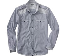 Oberhemd Slim Fit Baumwolle -grau