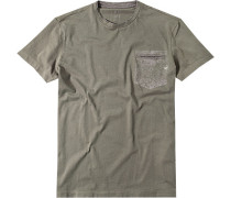 T-Shirt Slim Fit Baumwolle khaki