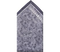 Herren Accessoires  Einstecktuch Baumwolle navy-ecru gemustert blau