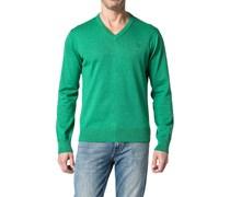 Herren Pullover Baumwolle grün meliert
