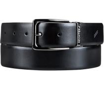 Herren Gürtel schwarz-dunkelbraun Breite ca. 3,5 cm braun,schwarz