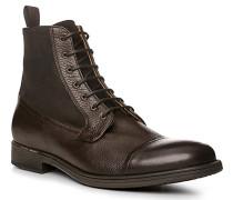 Schuhe Schnürstiefeletten, Leder, kaffeebraun
